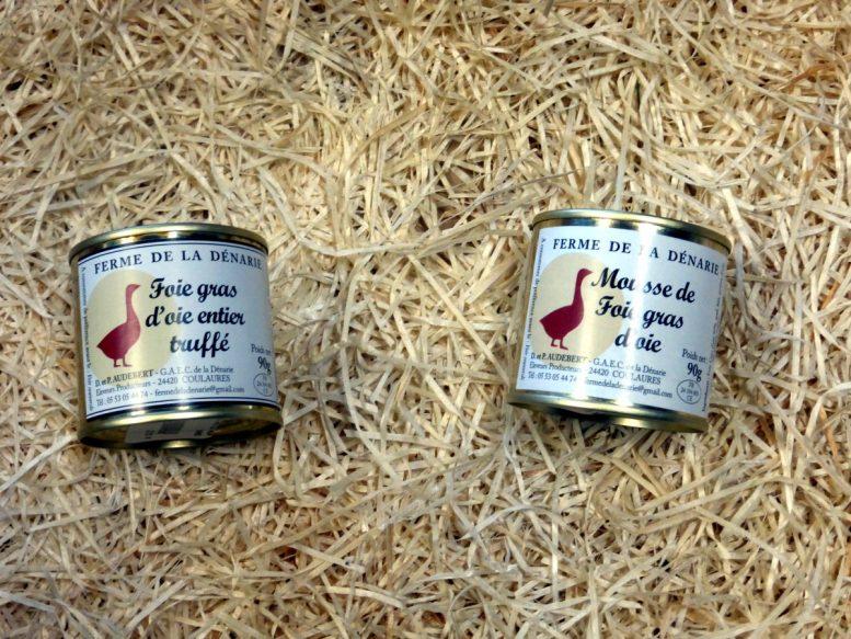 Foie gras doie entier ou truffé Ferme de la Dénarie