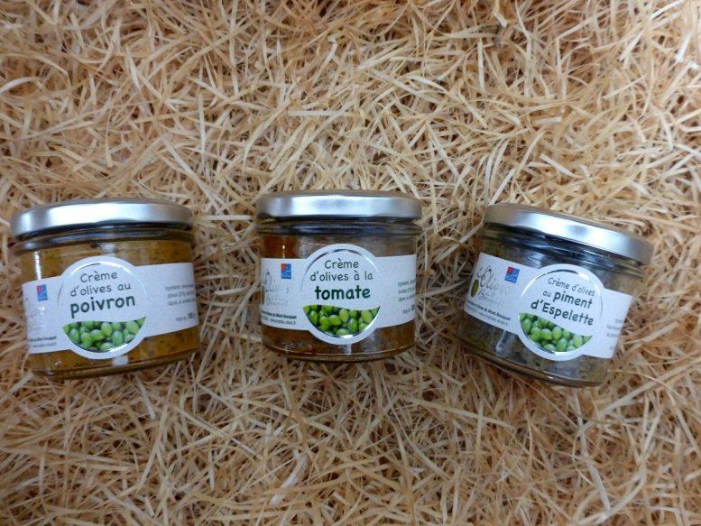 Crèmes d'olives, au poivron, à la tomate, au piment d'Espelette - Les Amandes et Olives du Mont Bousquet