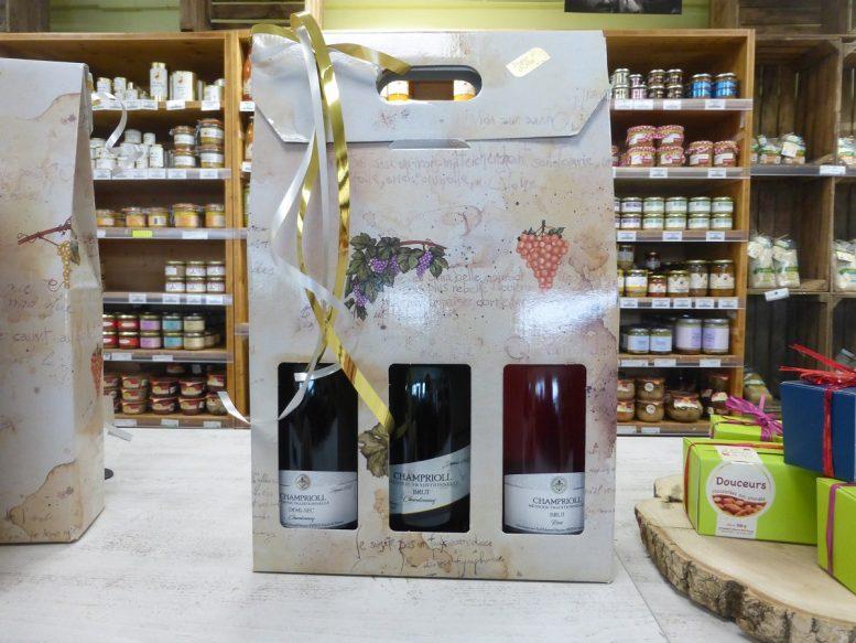 Coffret de trois bouteilles Champrioll du Domaine de Priollaud