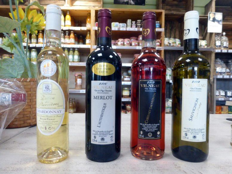 Roland Vilneau et sa gamme complete de vins
