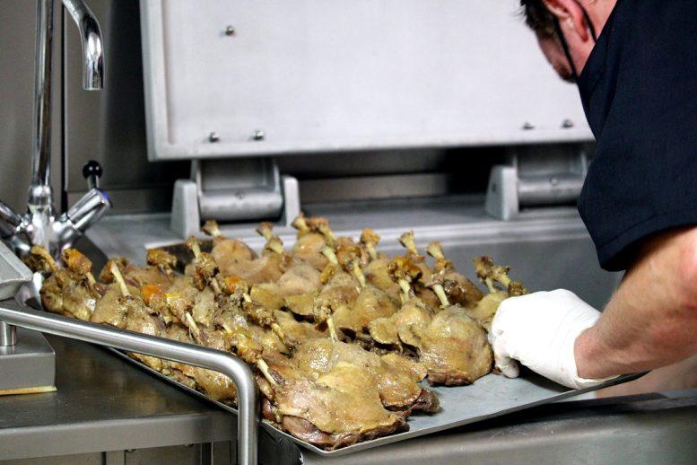 Preparation des cuisses de canard confites 2